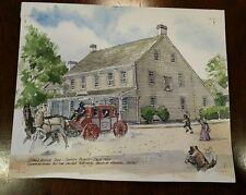 ORIGINAL Watercolor by Ernest B Walden aka Davis Gray -Statehouse Inn NJ