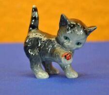 Vintage Goebel Figurine Gray Cat/Kitten w/Ladybug Germany