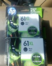 TWO!!NEW Genuine HP 61XL Black Original Ink Cartridge (CH563WN) OEM Expires 2023