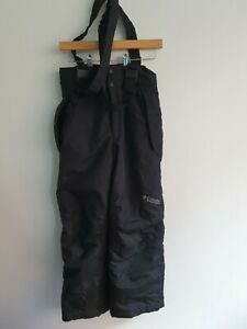 Columbia Womens 14/16 Ski Sallopettes Insulated With Braces Black