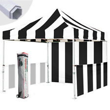 EZ Pop Up Canopy 10x10 Stripe Outdoor Event Commercial Trade Show Booth Tent