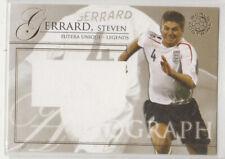 2007 Futera Unique-Legends Steven Gerrard England no-auto card(back blank)