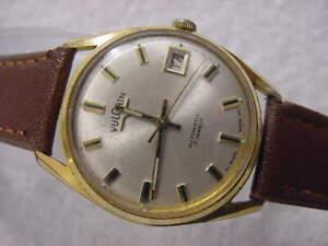 Vintage GOLD FD large antique Art Deco VULCAIN AUTOMATIC mens watch