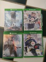 Xbox One Game Lot Battlefield 1, Star Wars: Battlefront, Madden 17, NHL 17