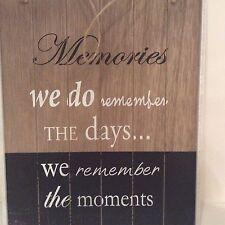 Holzschild Holz Schild Tafel m Spruch Wand Bild Shabby Memories Erinnerungen