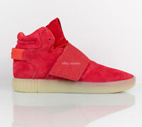 Adidas Originals Tubular Invader Strap Casual Shoes Red BB5039 Men's size 9.5