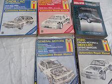 Assorted Automotive Service Manuals