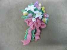 Multi Color Acrylic Floral Bouquet Pin Brooch