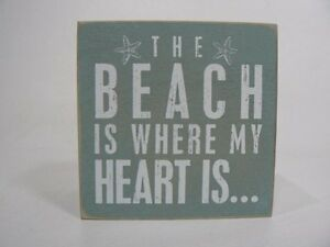 Primitives by Kathy The Beach Is Where My Heart Is Gift Jewelry Wood Box P21020