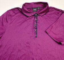 Hugo Boss Men's Short Sleeve Polo Size XL Purple w/Striped