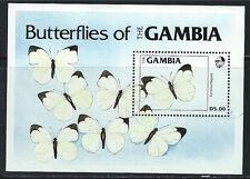 Gambia SC537 Souv.Sht. Beautiful Butterflies MNH 1984