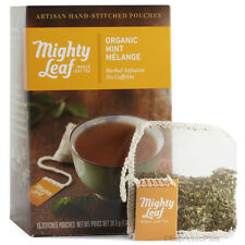 Mighty Leaf Organic Mint Melange Tea 15 Whole Leaf Tea Pouches Authorized Seller