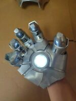 Iron Man Hand 1:1 Scale full metal Wearable gloves LED light Cosplay gift