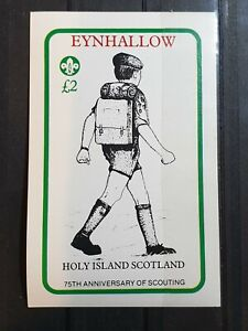 Holy Island Eynhallow  75th Anniv Of Scouting souvenir sheet MNH ( Reduced)