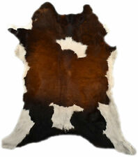 Genuine Mini Cowhide 37 3/8x33 1/2in Tricolor