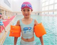 Inflatable Swim Rollup Arm Bands Rings Floats Tube Armlets for Kids and Adult