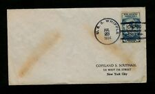 """USS WHIPPLE CHEFOO, CHINA JUL 23 1934"" Ship cancel w/ Scott #733 Byrd Antarctic"