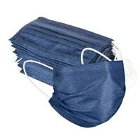 5 x Fashion Mask dunkelblau blau🟦 Jeansoptik Jeans Mustang Lee Maske Mund SALE