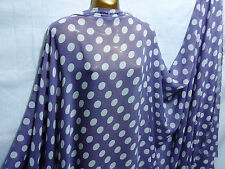 *NEW*Soft Touch Mauve/White chiffon Polka Dot Print Dress/Craft Fabric*FREE P&P*
