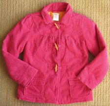 Gymboree Panda Academy EUC Hot Pink Corduroy Toggle Button Jacket Coat M/7-8 yrs