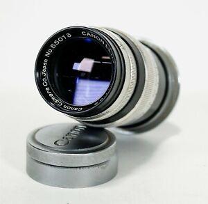 Vintage 1952 CANON Serenar 100mm f3.5 Rangefinder Screw Mount Camera Lens #55013