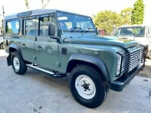 2014 Land Rover Defender MY13 110 (4x4) Green Manual 6sp M Wagon
