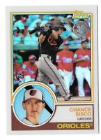 CHANCE SISCO 2018 Topps Series 2 1983 CHROME Silver Pack Refractor Orioles RC 84