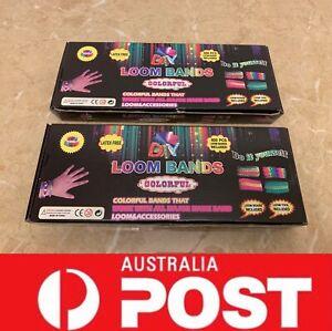 2 pcs Loom Band DIY Rainbow Kits Bundle Special, AU Stock