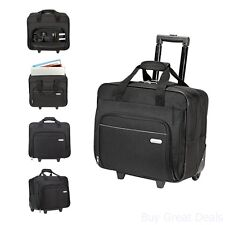 Rolling Laptop Computer Notebook Bag Wheel Storage Briefcase Roller Pocket 16in
