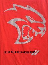 Dodge Challanger HELLCAT SRT red T shirt sz L large