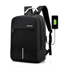 Men Anti-theft USB Charging Laptop Backpack Password Lock Business Shoulder Bag