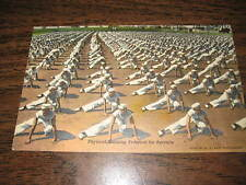 Vintage Original MILITARY WWII Postcard Navy Recruit Physical Training 215