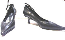Diba Women's  Black Leather Medium High Heel Pump Shoe  10 Medium           A058
