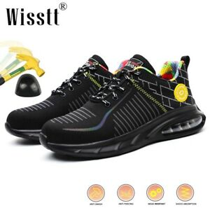 Mens Lightweight Work Safety Boots Air Steel Toe Waterproof Shoes Labor Trainers