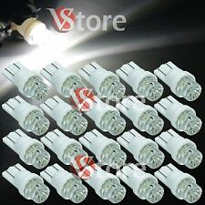 20 Lampade LED T10 CONCAVE BIANCO Luci Lampadine Per Targa e Posizione W5