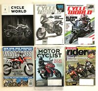 6 Lot Motocross Action Mag/Cycle World/Motor Cyclist/Rider ~Motorcycle Magazines