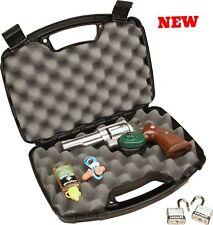 "Airsoft Handgun Case Single For 6"" Pistol Revolver Gun Padded Lockable Universal"