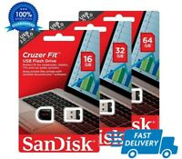 SanDisk 8/16 /32/64GB Cruzer Fit USB 2.0/3.0 Flash Pen Drive Memory StickTiny-UK