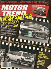 Motor Trend  Jan 1984 - Chevrolet Sprinter  -  Renault Alliance Turbo - Montero