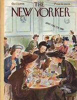 1948 New Yorker Oct 2-Girlfriends split lunch four ways
