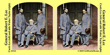 Gen Lee Custis Taylor Confederate Civil War SV Stereoview Stereocard 3D 03114
