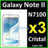 x3 Film Protection Ecran Transparent Cristal Samsung Galaxy Note II N7100 Note2