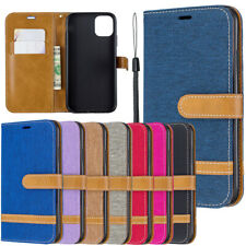 Case For iPhone 12 11 Pro Max Xr X 5s 6 7 8 Cover Denim Leather Card Wallet Flip