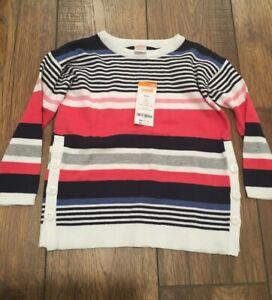 NWT Gymboree Girls Stripped Sweater Size 4, 100% cotton, RV 43.95