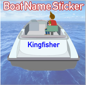 Boat Name Stickers - stern hull bow graphics ship yacht custom personalised