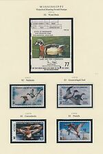 MISSISSIPPI HUNTING PERMIT STAMPS 1976-1999 CV $269 BS6393