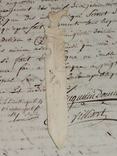 Antiguo Abre Carta Copa Papel Siglo XVIII Art Popular Saboya Dame Ajedrez De