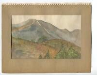 VINTAGE 1930's CLAREMONT CALIFORNIA JOHNSON'S PASTURE GEOLOGIST W/C ART PAINTING