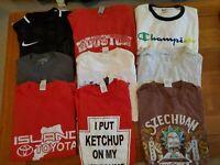 Lot of 9 Mixed T-Shirts - Size Medium