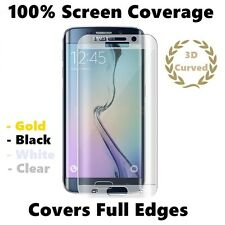 100% Full Curved Tempered Glass Screen Protector Samsung Galaxy S6 Edge Clear
